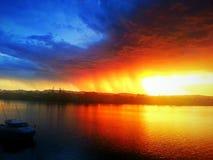 Il fuoco del cielo Fotografie Stock Libere da Diritti