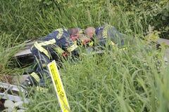Il fuoco ed il salvataggio di Abbotsford conservano un driver Fotografie Stock Libere da Diritti