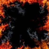Il fuoco fiammeggia il bordo Immagini Stock