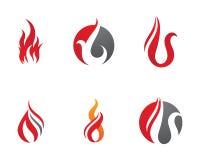 Il fuoco fiammeggia il modello di logo Immagine Stock