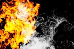 Il fuoco fiammeggia la priorità bassa Fotografie Stock