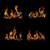 Il fuoco fiammeggia la raccolta Immagini Stock Libere da Diritti