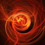 Il fuoco rays la rotazione Immagini Stock