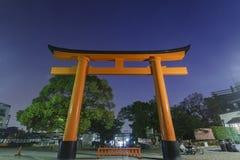 Il Fushimi famoso Inari-taisha a Kyoto Fotografia Stock Libera da Diritti