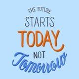 Il futuro comincia oggi non domani illustrazione di stock