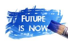 Il futuro della pittura ora è parola illustrazione di stock