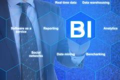 Il futuro di business intelligence Fotografie Stock Libere da Diritti