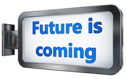 Il futuro sta venendo sul tabellone per le affissioni royalty illustrazione gratis