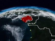 Il Gabon alla notte fotografie stock