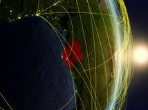 Il Gabon su pianeta Terra di reti immagine stock