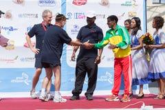 Il gagnant de la grande course éthiopienne de 13ème édition Photographie stock