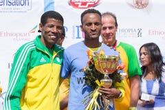 Il gagnant de la grande course éthiopienne de 13ème édition Photos stock