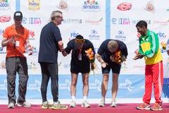 Il gagnant de la grande course éthiopienne de 13ème édition Images stock