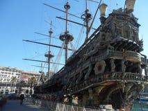 Il Galeone Neptune, Genoa, Italy stock photos