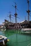 Il Galeone Neptune pirate ship in Genoa, Italy Stock Photo