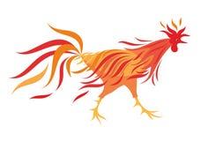 Il gallo ardente Immagine Stock