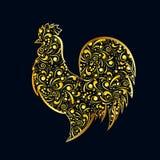 Il gallo dell'oro Fotografia Stock Libera da Diritti