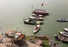 Il Gange, Varanasi, India Fotografia Stock Libera da Diritti