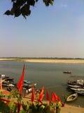 Il Gange a Varanasi, India Fotografia Stock Libera da Diritti