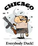 Il gangster trasporta l'arma Immagini Stock Libere da Diritti
