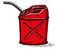 Il gas di vettore può Immagine Stock Libera da Diritti