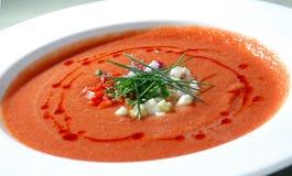 Il gaspacho spagnolo della minestra del pomodoro immagine stock libera da diritti