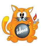Il gatto è pronto ad esplodere le idee Fotografia Stock