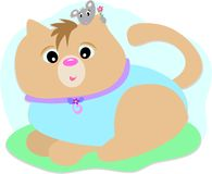 Il gatto ed il mouse sono amici Fotografia Stock