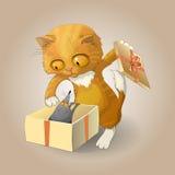 Il gatto ed il topo royalty illustrazione gratis