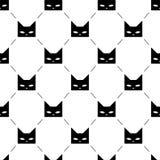 Il gatto nero dirige il modello senza cuciture royalty illustrazione gratis