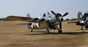 Il gatto selvatico di Grumman F4F è ad un aereo da caccia basato a trasportatore americano immagini stock libere da diritti