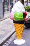 Il gelato firma dentro le vie di Sanremo, Italia Fotografie Stock Libere da Diritti
