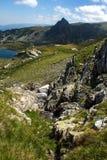 Il gemello, i sette laghi Rila, montagna di Rila Immagine Stock Libera da Diritti