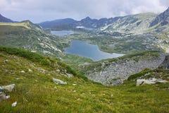 Il gemello, il trifoglio, il pesce ed i laghi più bassi, i sette laghi Rila Fotografia Stock Libera da Diritti