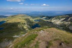 Il gemello, il trifoglio, il pesce ed il lago più basso, i sette laghi Rila, montagna di Rila Immagini Stock Libere da Diritti