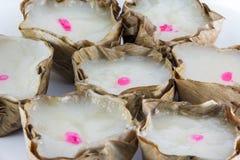 Il genere di dolciumi cinesi ha cotto a vapore in un canestro fotografia stock libera da diritti