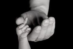 Il genitore è mano del bambino della holding fotografia stock libera da diritti