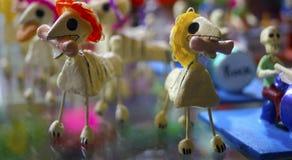 Il gesso insegue la decorazione degli scheletri Immagine Stock