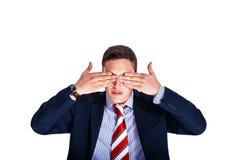 Il gestore con i suoi occhi si è chiuso Fotografia Stock Libera da Diritti