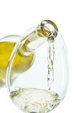 Il getto del vino bianco immagini stock libere da diritti