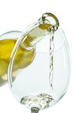 Il getto del vino bianco immagine stock libera da diritti