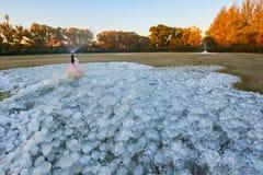 Il getto di acqua nel parco Fotografia Stock