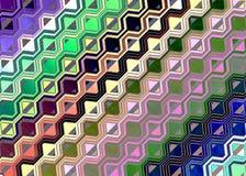 Il gexagon multicolore ha modellato il fondo di fantasia royalty illustrazione gratis