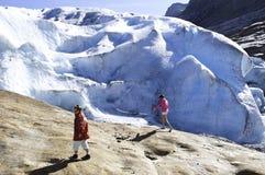 Il ghiacciaio Fotografie Stock