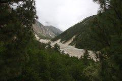 Il ghiacciaio Fotografia Stock