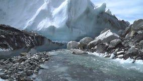 Il ghiacciaio di Khumbu video d archivio