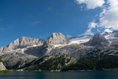 Il ghiacciaio di Marmolada, Italia Fotografia Stock Libera da Diritti