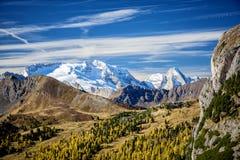 Il ghiacciaio di Marmolada Trentino L'Italia Fotografia Stock