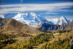 Il ghiacciaio di Marmolada Trentino L'Italia Fotografia Stock Libera da Diritti