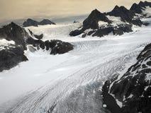 Il ghiacciaio di Mendenhall a Juneau Icefields nell'Alaska U.S.A. Fotografia Stock Libera da Diritti